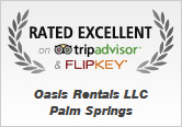 Oasis Rentals, Palm Springs is rated excellent on TripAdvisor and FlipKey